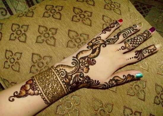 Flower Mehndi Designs On Back : Mehndi design for hands designs back