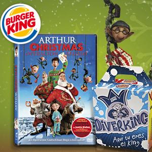 Arthur Christmas en DVD por 1€ con Burguer King