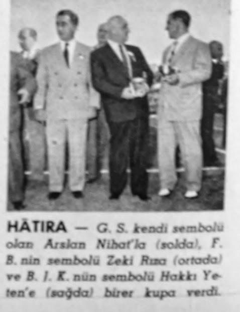Galatasaray spor kulübü yeni idare heyeti 1957 hayat dergisi