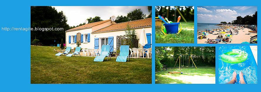GITES DU PARC***  Vendée France gîtes / location = holiday cottages Piscine = Pool Sea = Mer 15km