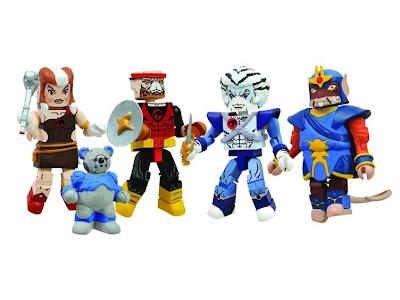 Diamond Select Thundercats Minimates Series 4 - Lynx-O, Pumyra, Bengali & Ratar-O