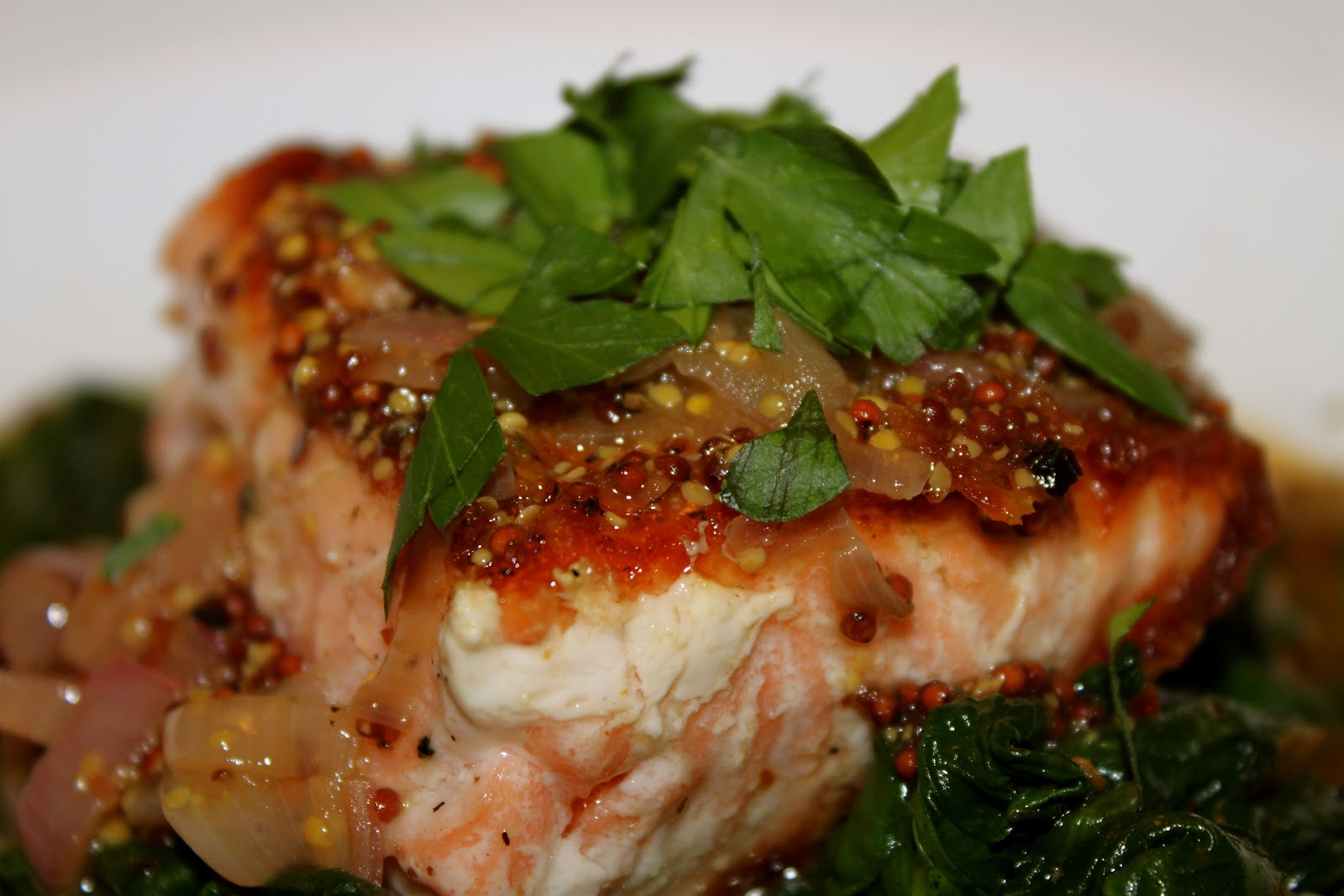 Domestic Divas Blog: Pan-Seared Salmon with Mustard Shallot Sauce