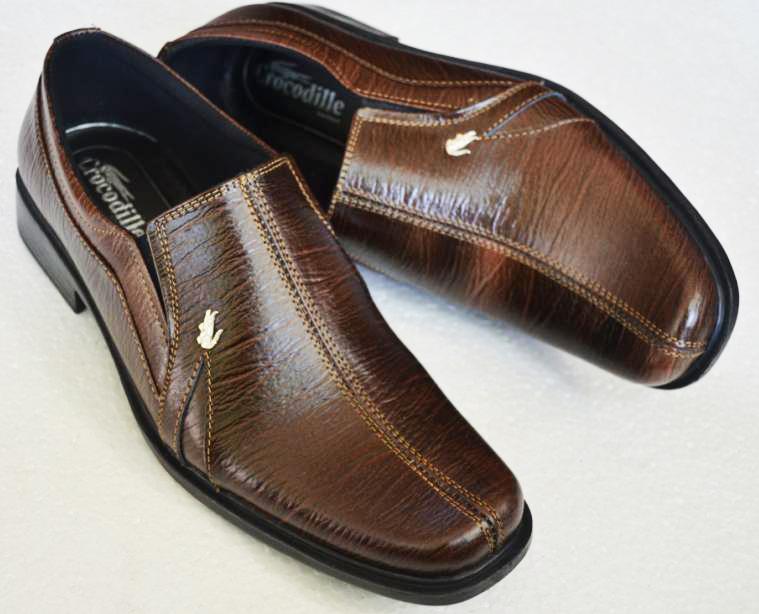 Sepatu Kulit Pria Crocodile Cokelat