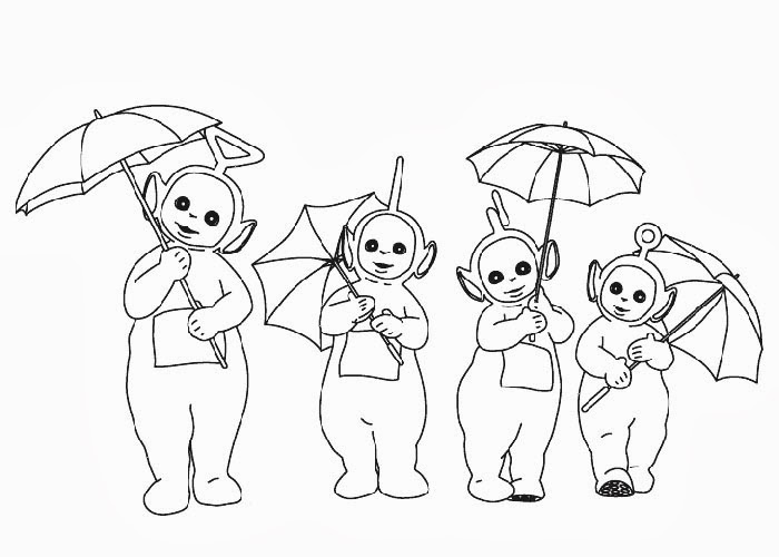 Teletubbies coloring pages for kids Free Coloring Pages and