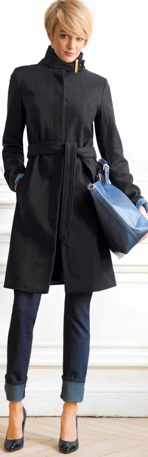 Women S Fashion Elegant Coat And Denim