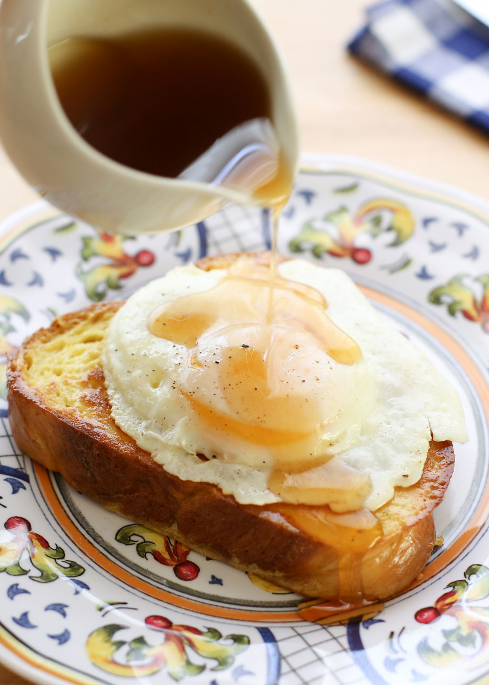 Brioche French Toast with Hot Maple Syrup recipe by Barefeet In The Kitchen