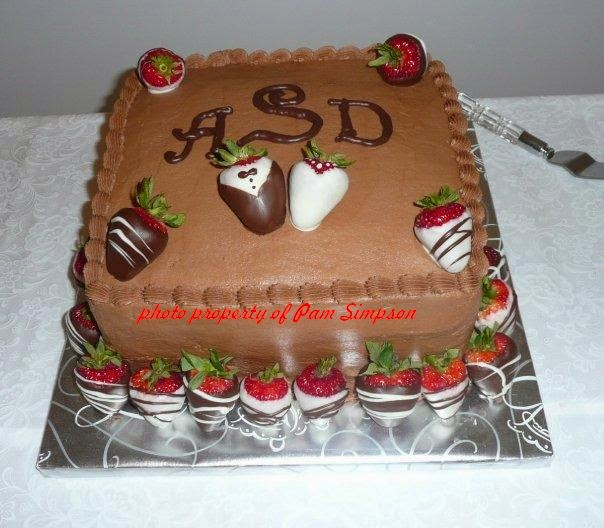 Senatobia MS groom cake with paper covered board