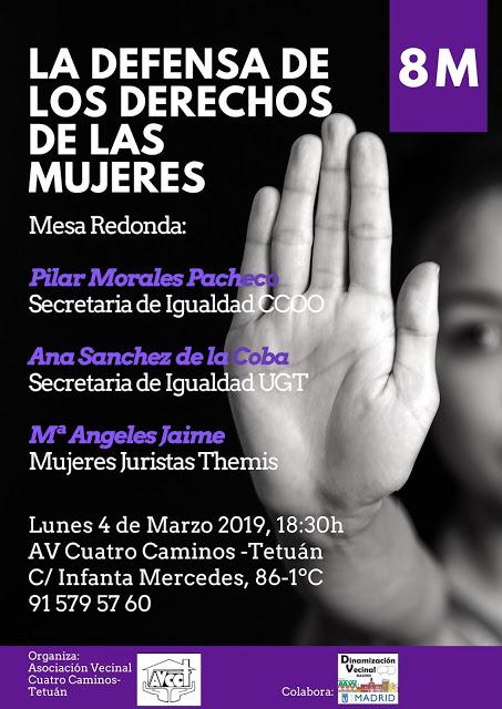 4 de marzo Por la Igualdad En Tetuán y en todos los barrios