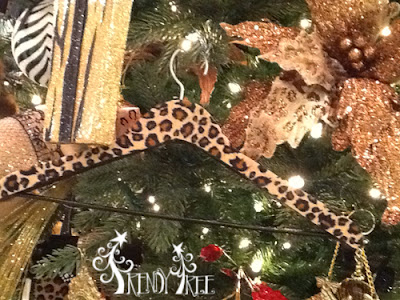3316374 RAZ Animal Print Coat Hanger Ornament