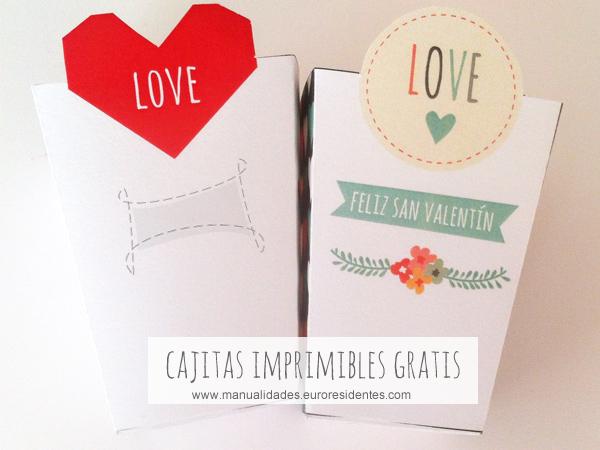 cajitas imprimbles gratis san valentín