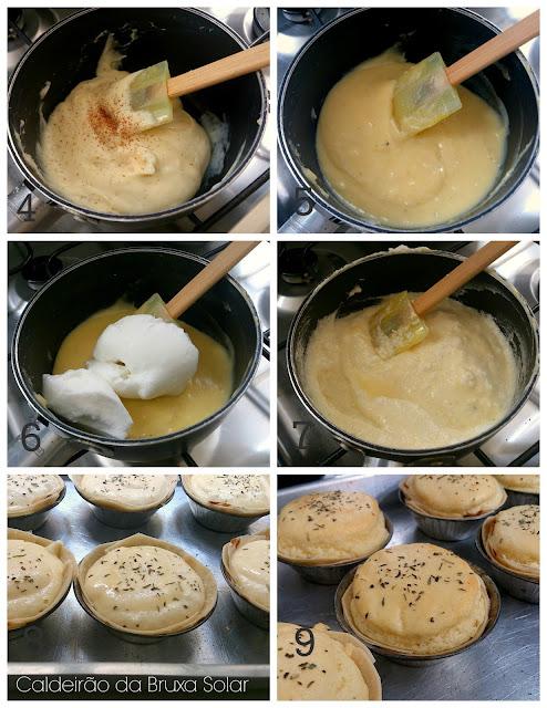 Tortinhas rápidas de suflê de queijo