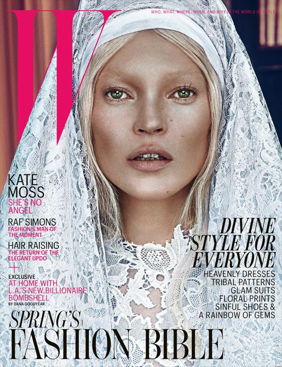 Kate Moss, côté pur ou côté maléfique? Magazine W, Steven Klein