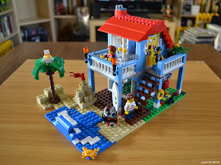 lego beach house - the completed build