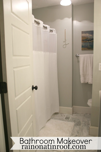 DIY Bathroom Makeover {rainonatinroof.com} #bathroom #makeover #renovation #re-model #DIY