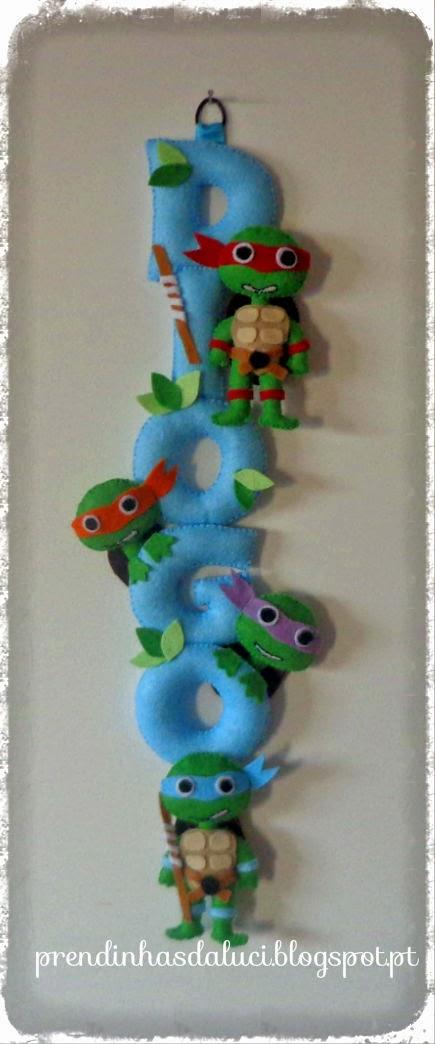 bernner em feltro tartarugas ninja