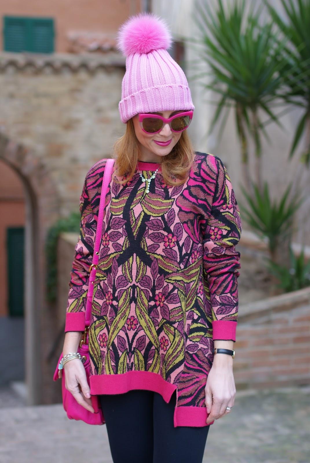 Max Mara jacquard sweater on Fashion and Cookies fashion blog, fashion blogger style