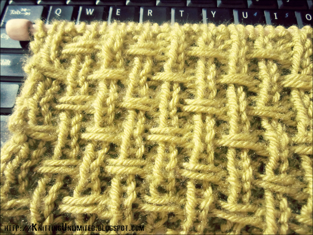 Knitting Stitches Weaving : Broken Rib Slip Stitch- Knit Texture Looks A Lot Like Burlap Weave - Knitting...