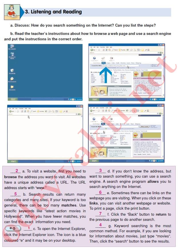 Sınıf ingilizce doku yayınları ders kitabı cevapları