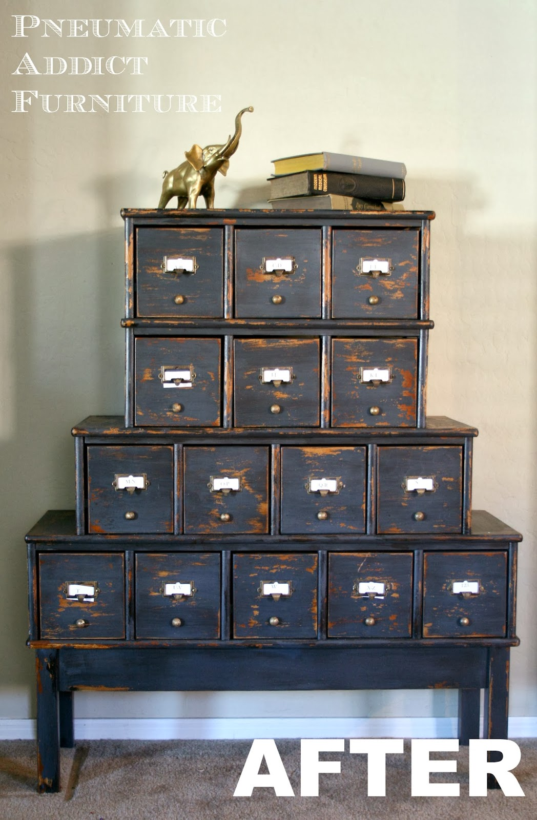 Milk Paint Card Catalog Pneumatic Addict