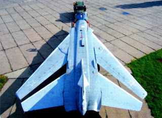 Вид сверху бомбардировщика Су-24М.