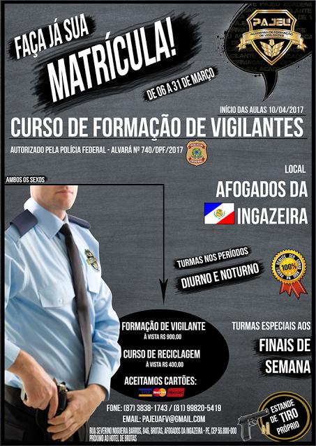 Curso de Vigilantes em Afogados