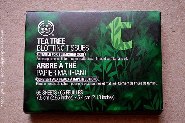 TBS Bodyshop Tea Tree Oil Blotting Sheets Paper Reviews