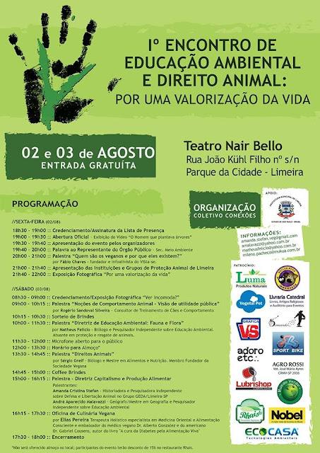 I Encontro de Educação e Direito Animal: por uma valorização da vida