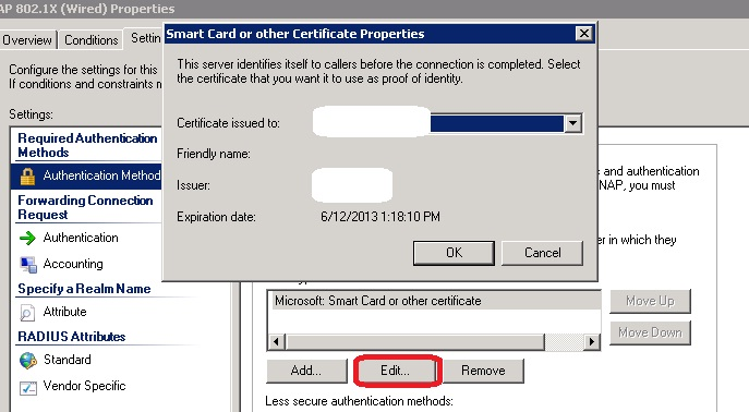 A networkers log file a certificate could not be found that can a certificate could not be found that can be use with this eap when configuring 8021x on nps yadclub Images