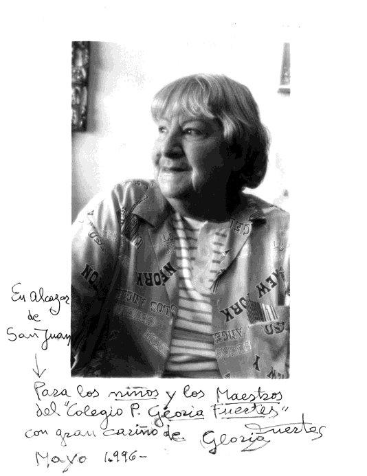 """años: Gloria Fuertes y el Colegio Público """"Gloria Fuertes"""