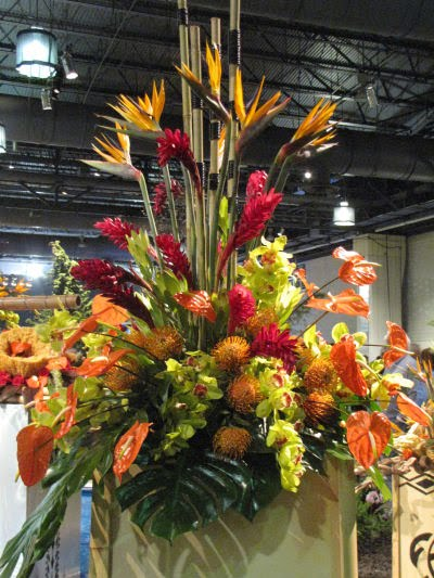 hawaiian flower arrangement