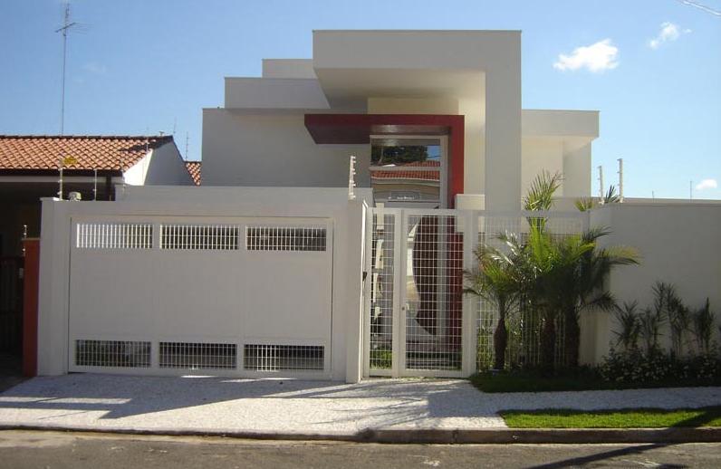 40 fachadas de casas modernas e esculturais maravilhosas for Fachadas frontales de casas