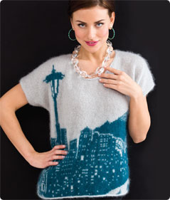 Seattle Skyline Pullover with free pattern