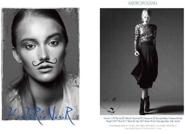 Katya Riabinkina Metropolitan Show Card - Paris S/S 2012