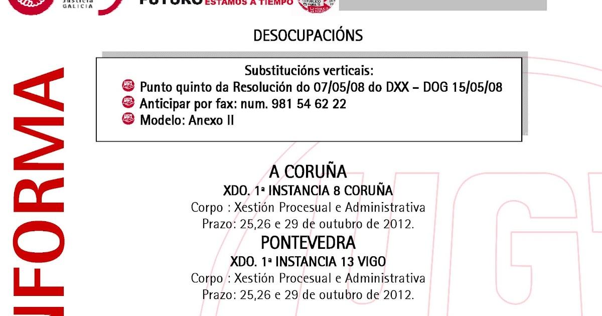 Ugt justicia galicia avisos sustitucions for Oficina virtual xunta galicia