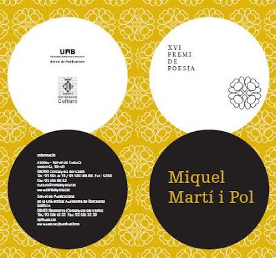 Premis Literaris 'Miquel Martí i Pol' i 'Valldaura-Memorial Pere Calders' 2011