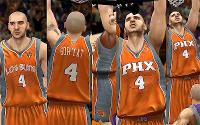 NBA 2K13 Phoenix Suns Noche Latina Jersey