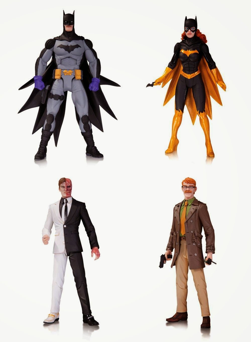 San Diego Comic-Con 2014 First Look: DC Comics Greg Capullo Batman Designer Series Wave 3 Action Figures - Zero Year Batman, Batgirl, Two-Face and Commissioner James Gordon