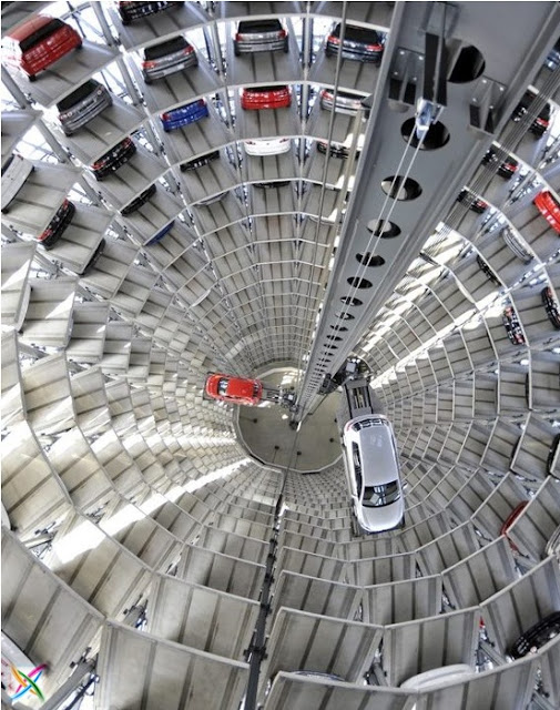 World largest car parking in Germany buildings infrastructure architecture Garage Images