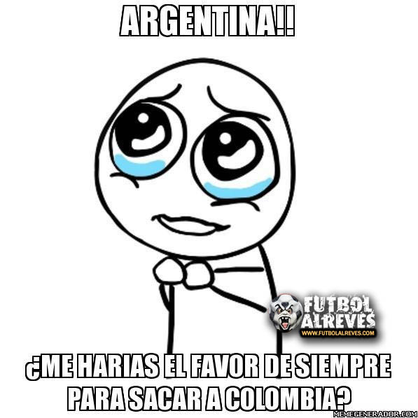 brasil 2014: Colombia VS Argentina (Eliminatorias brasil 2014) Meme ...