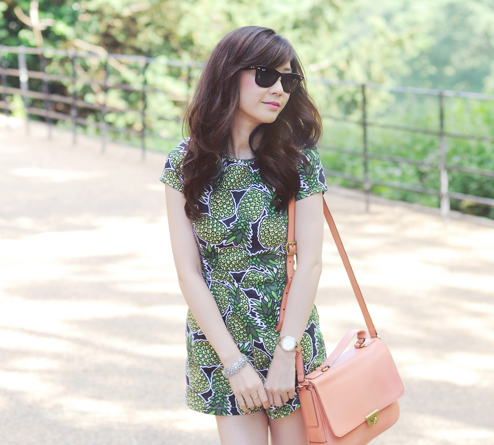 uk fashion blog, how to wear pineapple print trend
