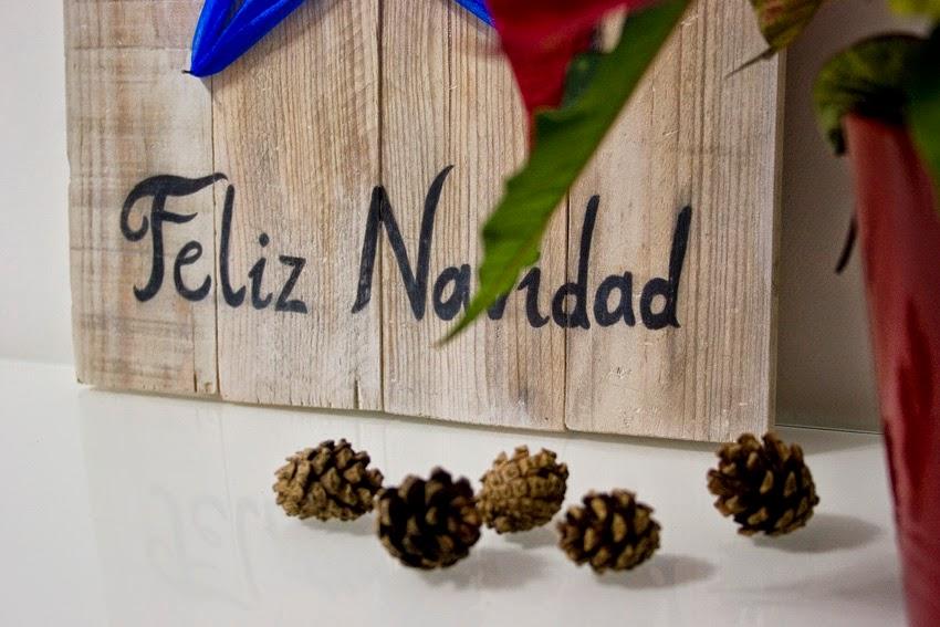 Diariodeco9: Diy Feliz navidad con madera de palet y lazo para Yaicla1