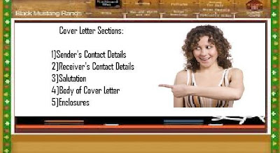parts of cover letter