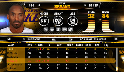 NBA 2K13 Roster Kobe Bryant Injury Update
