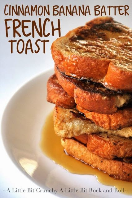 A little bit crunchy a little bit rock and roll cinnamon banana french toast where you dip banana bread into the egg batter you will love how easy this recipe is surprise the mom in your life with this recipe for ccuart Gallery