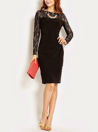 Long Sleeve Lace Midi Sheath Dress