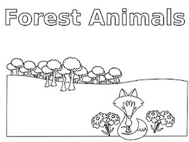 Forest Animal Coloring Pages Free