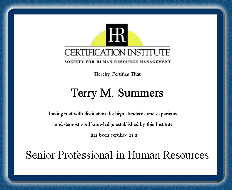 Professional In Human Resources Professional Human Resource