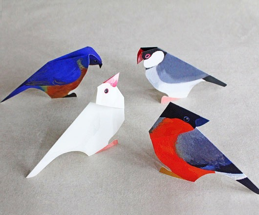 paper craft birds  ideas