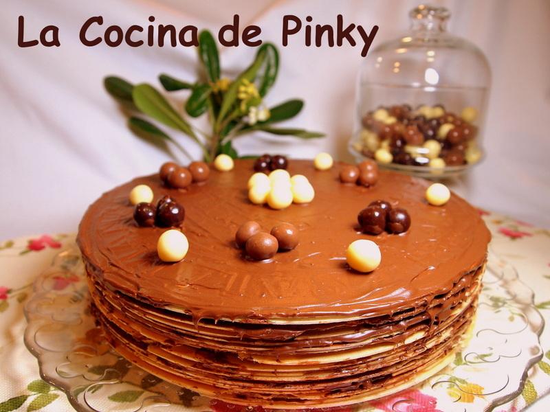 TARTA DE OBLEAS Y CREMA DE CHOCOLATE  Tarta+de+obleas+y+crema+de+chocolate+1