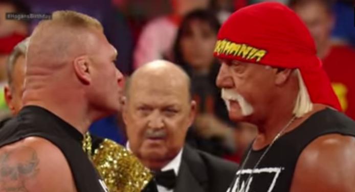 Brock Lesnar se enfrenta a Hulk Hogan, Holliwood Hogan lucha contra Brock Lesnar en PPV